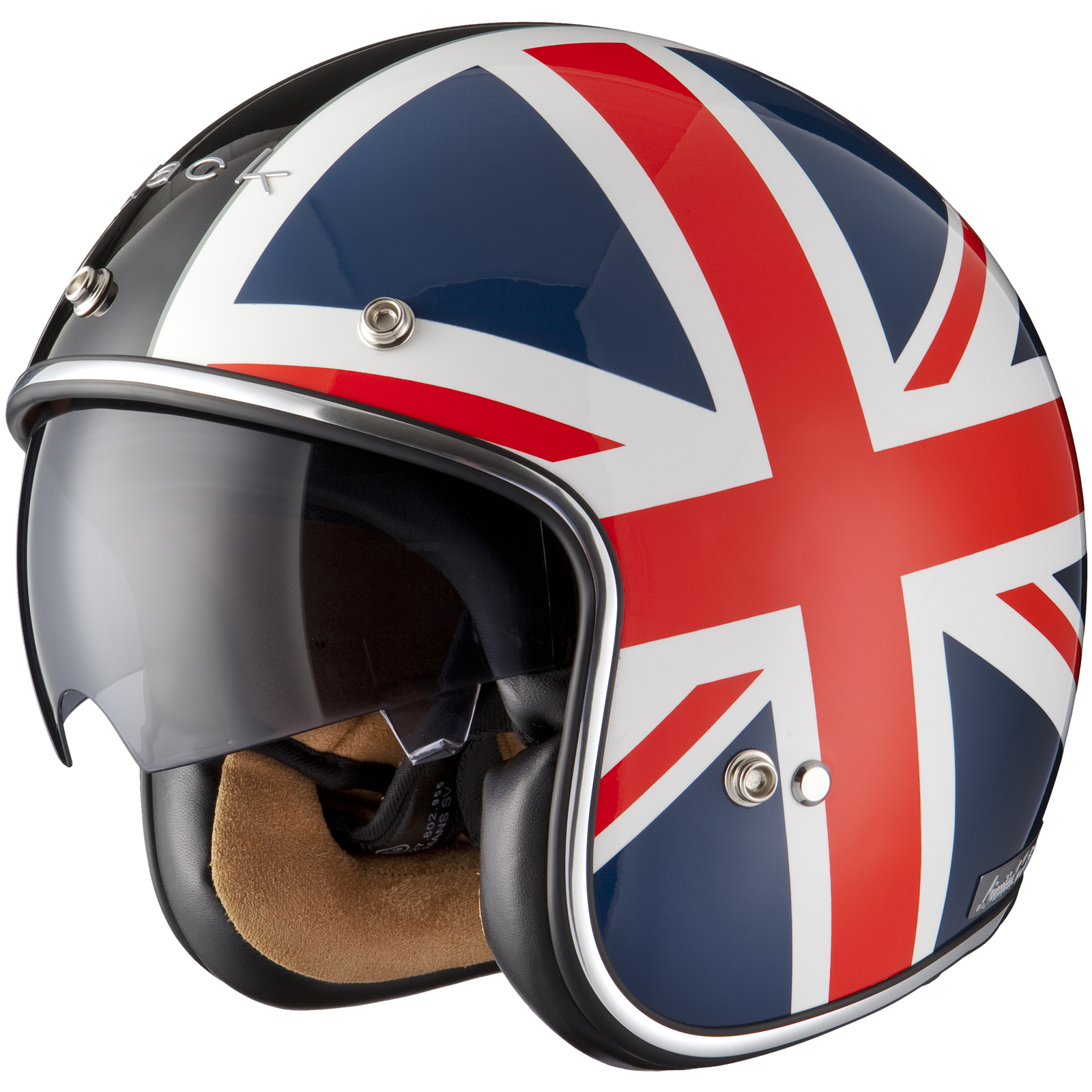 Casque moto union jack