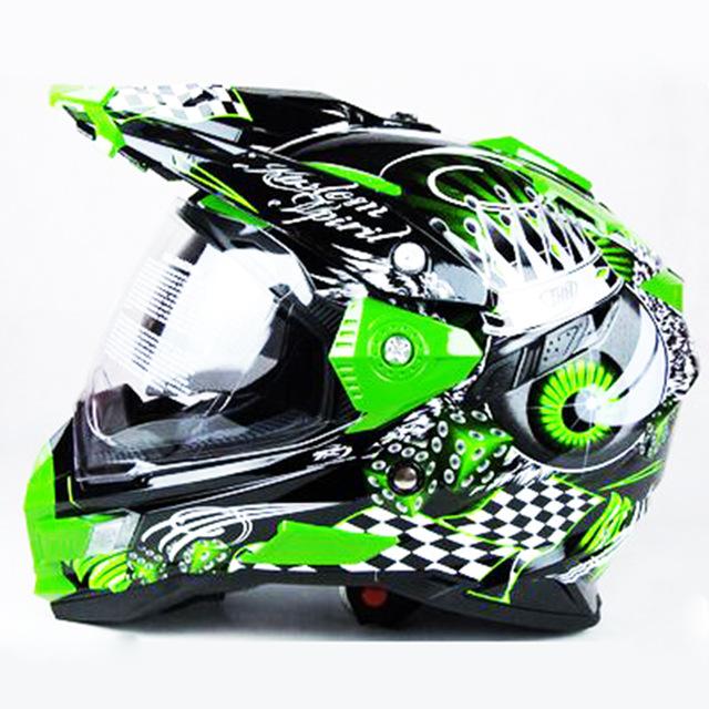 Casque moto cross pour route