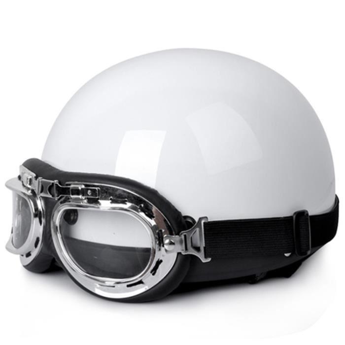 Casque moto lunette aviateur