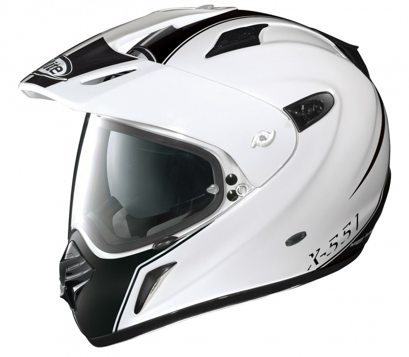 Casque moto crossover