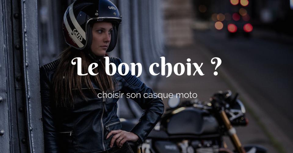 Choix d'un casque moto