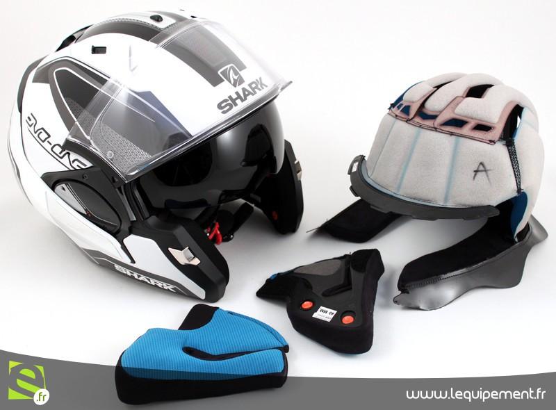 Mentonnière casque moto shark