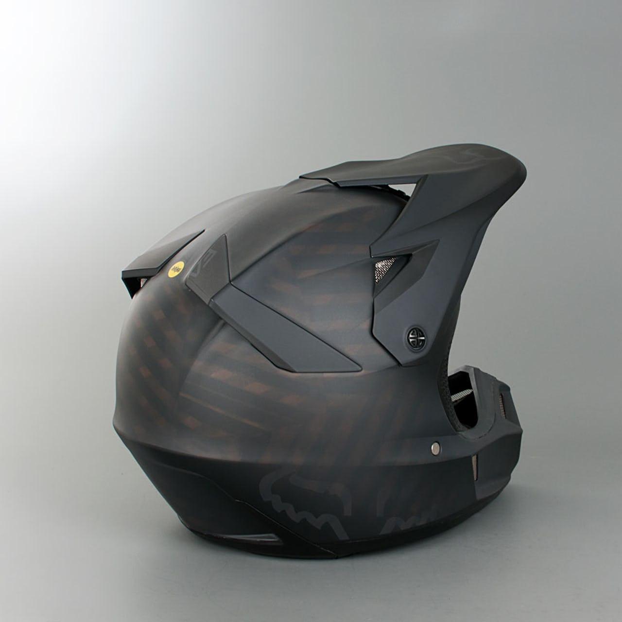 Casque moto cross fox noir mat