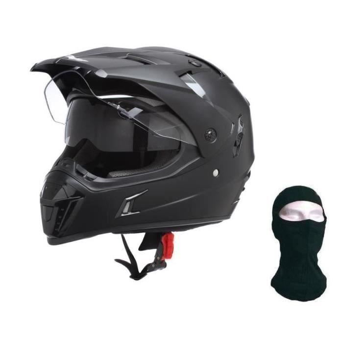 Casque moto cross nox noir