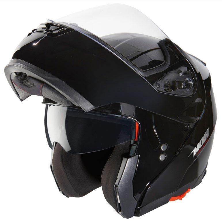 Casque moto modulable noir