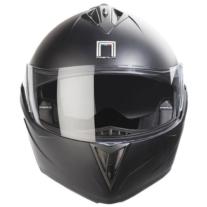 Casque moto modulable nox n955 noir mat