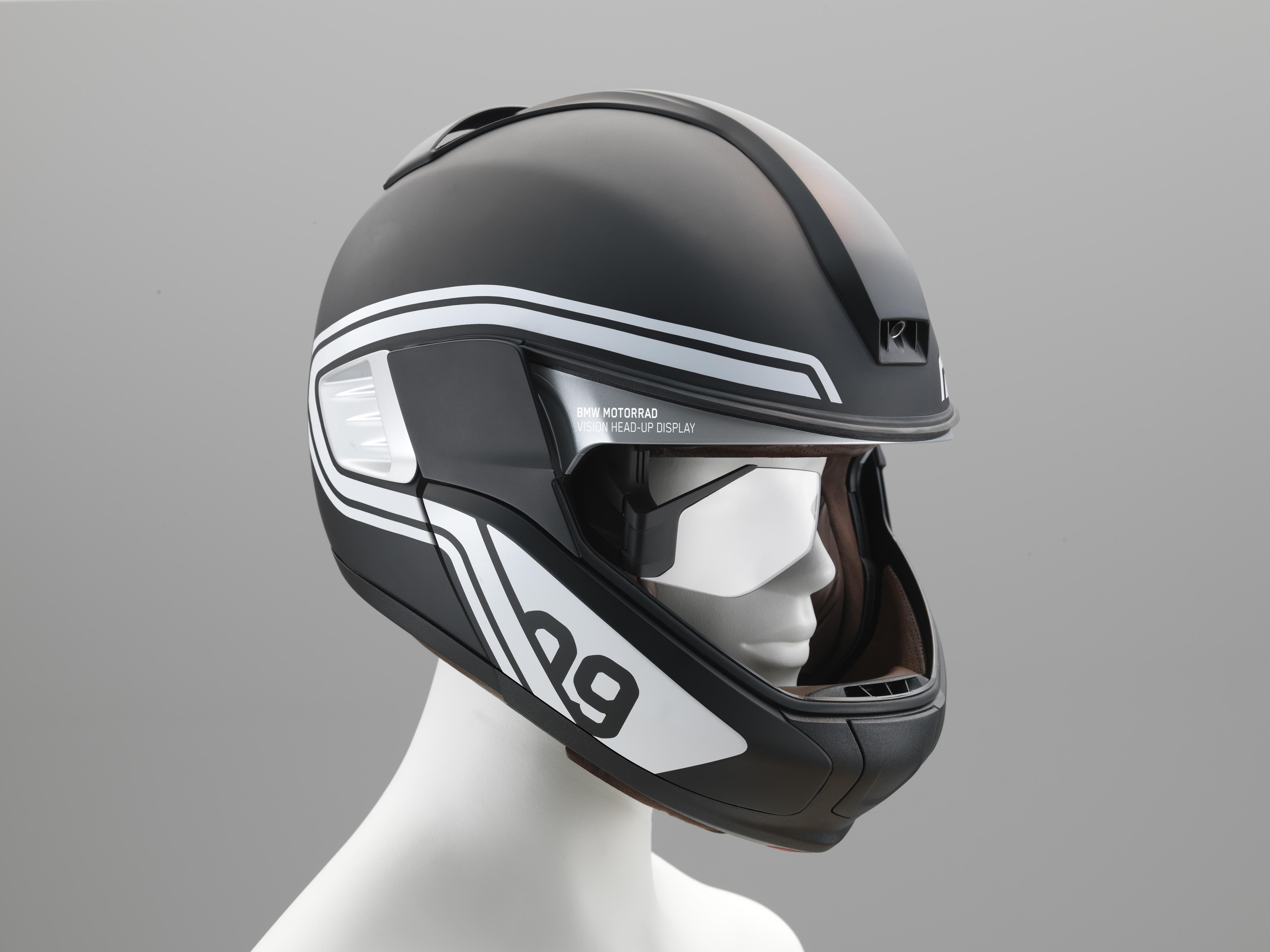 Casque moto avec affichage tete haute