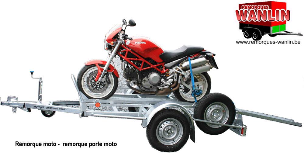 Remorque porte-moto occasion belgique